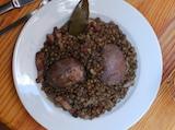 Saucisses, Lentilles du Puy