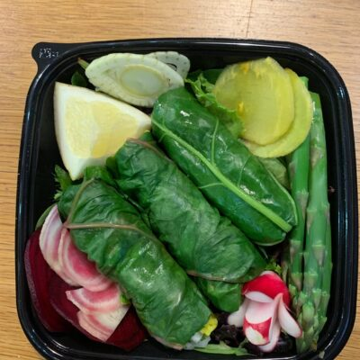 Dolmas Of Swiss Chard with Season's Vegetables